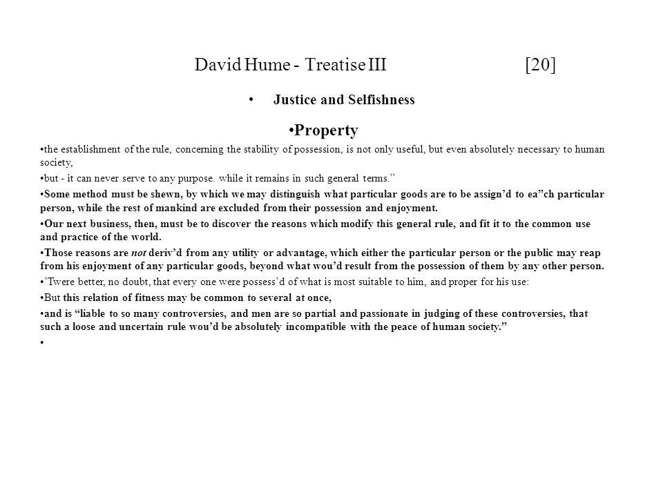 David Hume - Treatise III [20]